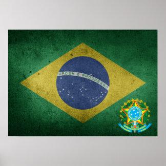 Poster drapeau brésilien