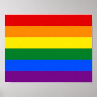 Poster Drapeau de gay pride d'arc-en-ciel