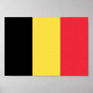 Poster Drapeau de la Belgique