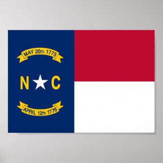 Poster Drapeau de la Caroline du Nord