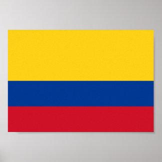 Poster Drapeau de la Colombie
