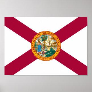Poster Drapeau de la Floride