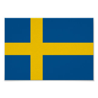 Poster Drapeau de la Suède