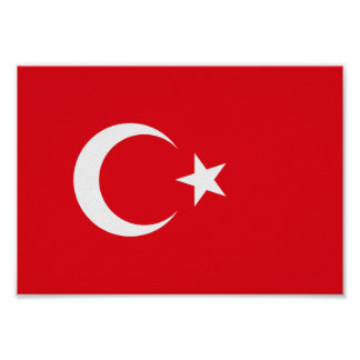 Poster Drapeau de la Turquie