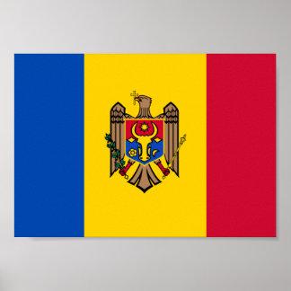 Poster Drapeau de Moldau