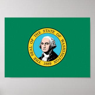 Poster Drapeau de Washington