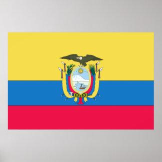 Poster Drapeau d'Ecuadorian