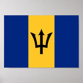 Poster Drapeau des Barbade