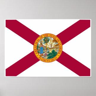 Poster Drapeau d'état de la Floride