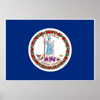 Poster Drapeau d'état de la Virginie