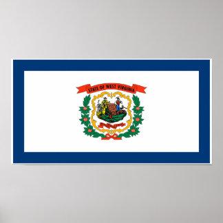 Poster Drapeau d'état de la Virginie Occidentale