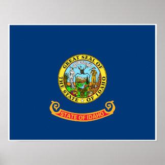 Poster Drapeau d'état de l'Idaho