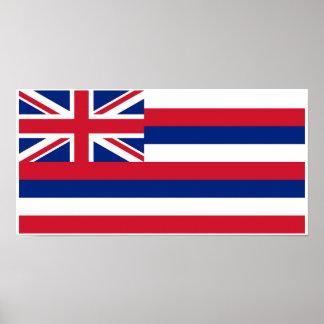 Poster Drapeau d'état d'Hawaï