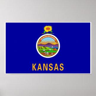 Poster Drapeau d'état du Kansas