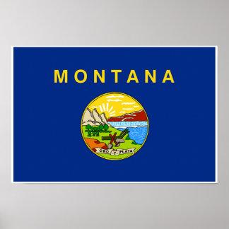 Poster Drapeau d'état du Montana
