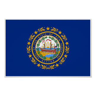 Poster Drapeau d'état du New Hampshire