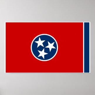 Poster Drapeau d'état du Tennessee