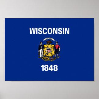 Poster Drapeau du Wisconsin