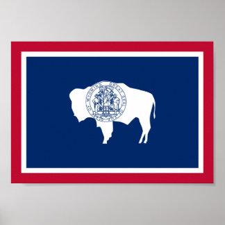 Poster Drapeau du Wyoming