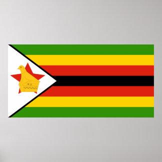 Poster Drapeau du Zimbabwe Afrique