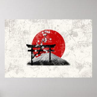 Poster Drapeau et symboles du Japon ID153