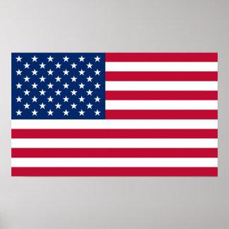 Poster Drapeau Etats-Unis américains de l'Amérique