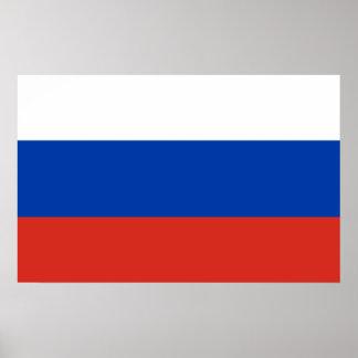 Poster Drapeau national du monde de la Russie