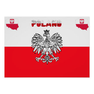 Poster Drapeau polonais