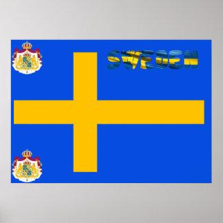 Poster Drapeau suédois