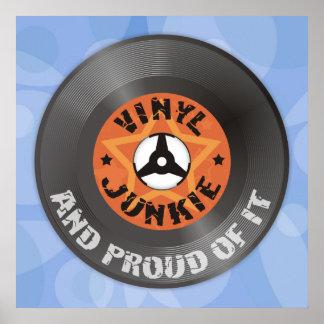 Poster Drogué de vinyle - et fier de lui affiche bleue