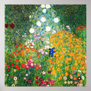 Poster du jardin fleuri Gustav Klimt