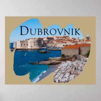 Poster Dubrovnik avec une vue