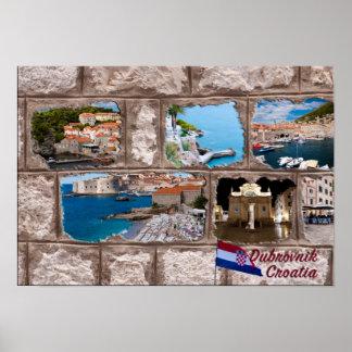 Poster Dubrovnik, Croatie