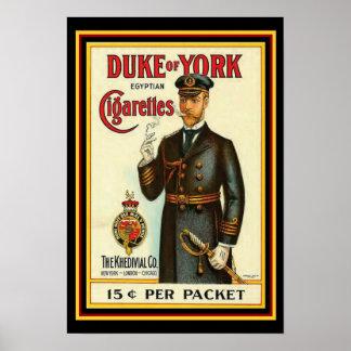 Poster Duc de l'affiche 13 x 19 de cigarette de York
