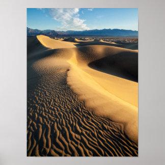 Poster Dunes de sable dans Death Valley, CA