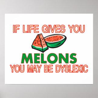 Poster Dyslexie de melon