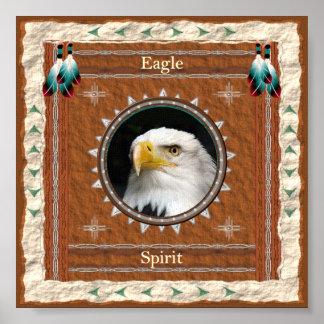 Poster Eagle - copie d'affiche d'esprit