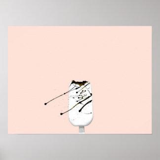 Poster Éclaboussure de glace albinos