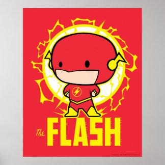 Poster Éclair de Chibi avec l'électricité