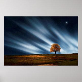 Poster Éclat de rayons de lune et d'étoile de récolte