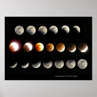 Poster Éclipse lunaire