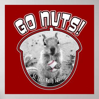 Poster Écureuil de rassemblement - Louis, Missouri