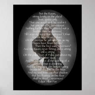 Poster Edgar Allan Poe l'aquarelle de Raven de poème de