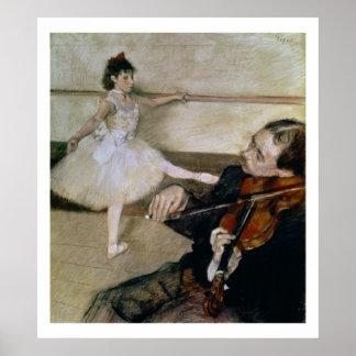 Poster Edgar Degas | la leçon de danse, c.1879