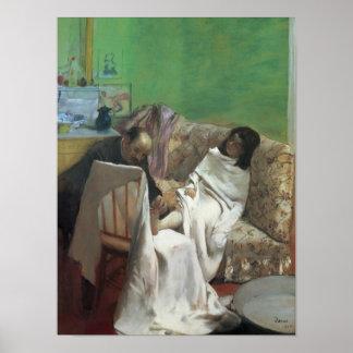 Poster Edgar Degas | la pédicurie, 1873