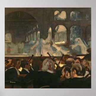 Poster Edgar Degas | la scène de ballet, l'opéra de