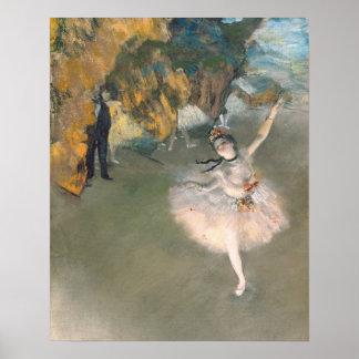 Poster Edgar Degas | l'étoile, ou danseur sur l'étape