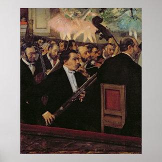 Poster Edgar Degas | l'orchestre d'opéra, c.1870
