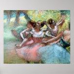 Poster Edgar Degas | quatre ballerines sur l'étape