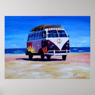 Poster Édition super d'autobus de surf